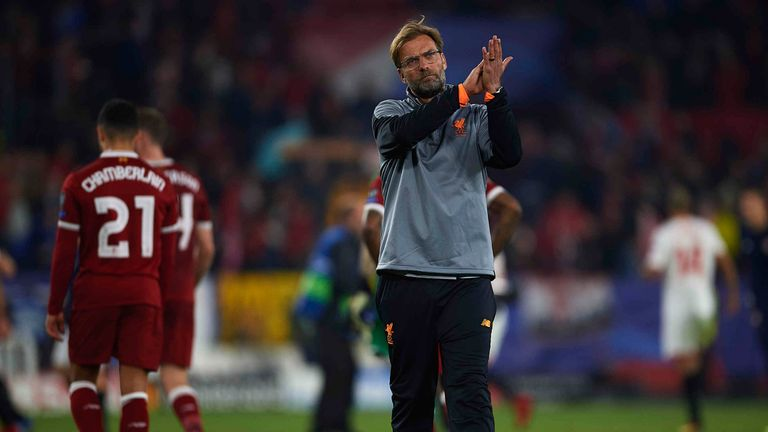 Jurgen Klopp clapped the Liverpool fans after his side let a 3-0 lead slip to draw 3-3