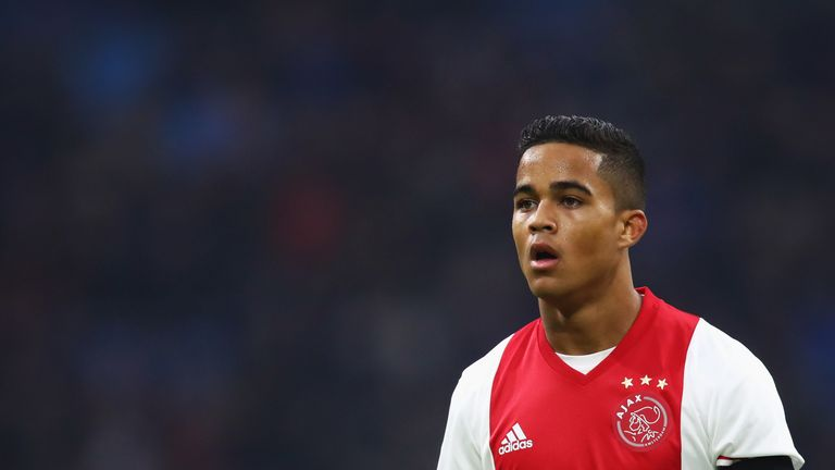 Justin Kluivert scored for Ajax in the 3-3 draw with Twente