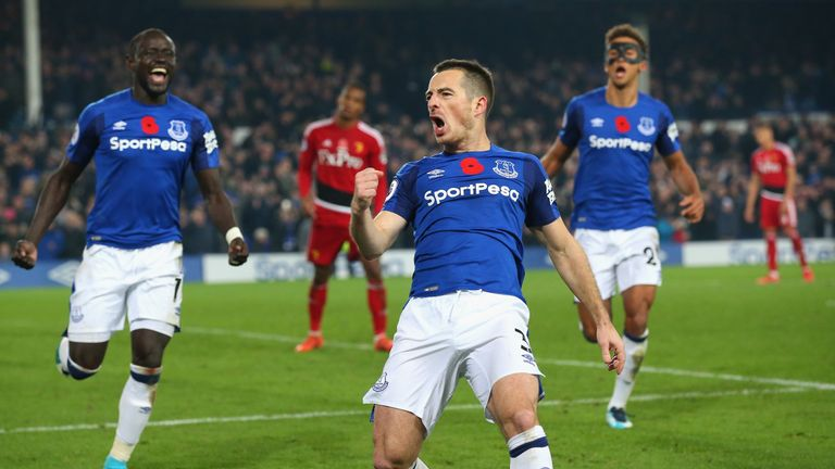 Leighton Baines scored Everton's stoppage-time winner against Watford from the penalty spot