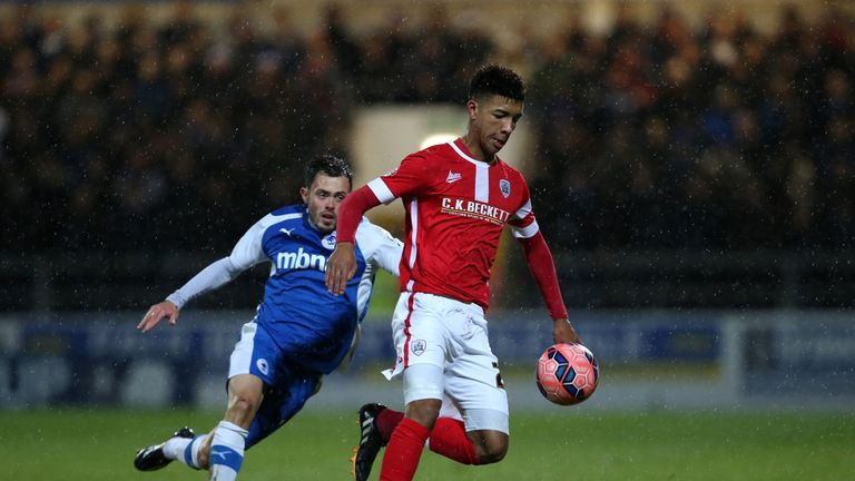 Mason Holgate (right) played the 2014-15 season at Barnsley before joining Everton