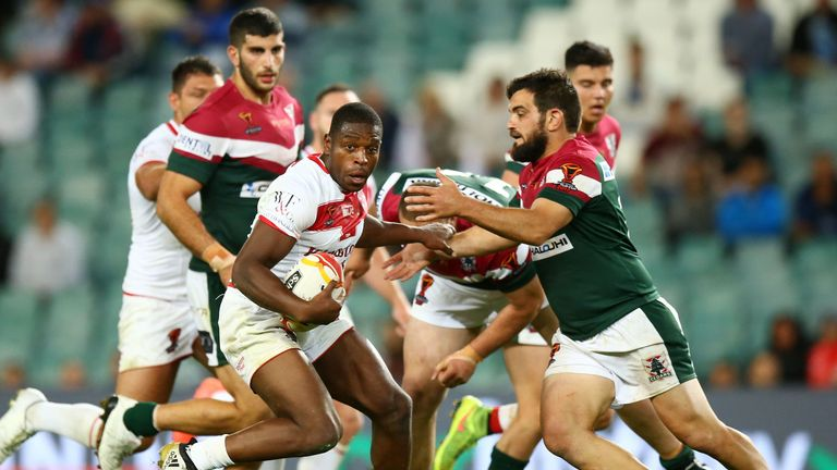Jermaine McGillvary helped England overcome Lebanon in the World Cup on Saturday