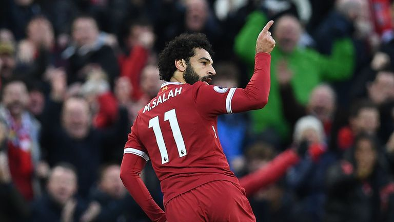 Mohamed Salah scored two of Liverpool's goals in their 3-0 win over Southampton
