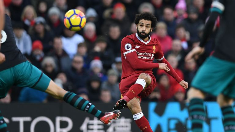Salah is the top scorer in the Premier League at present, with nine goals