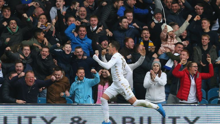 Pablo Hernandez put Leeds ahead in the first half