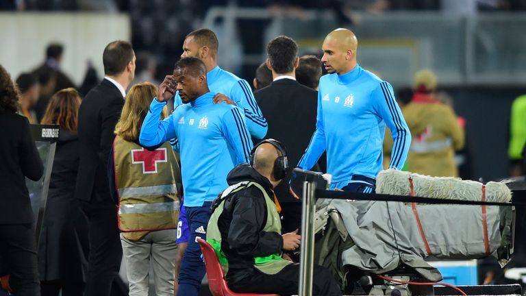 Patrice Evra after the incident which saw him sacked by Marseille