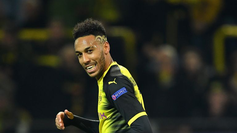 Pierre-Emerick Aubameyang has been linked with Arsenal