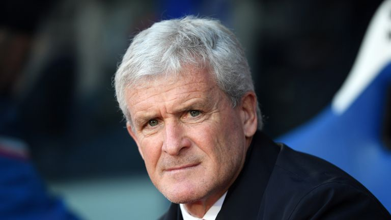 Mark Hughes will take charge of Southampton for the first time on Sunday