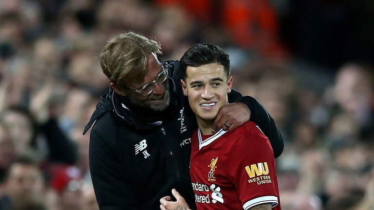 Klopp says Barcelona were the only club Coutinho would swap Liverpool for