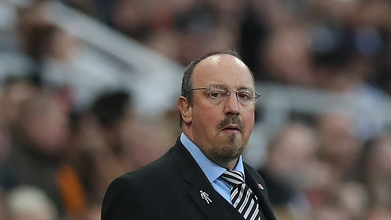 Rafa Benitez says the gulf in spending between his side and Manchester United was obvious to see