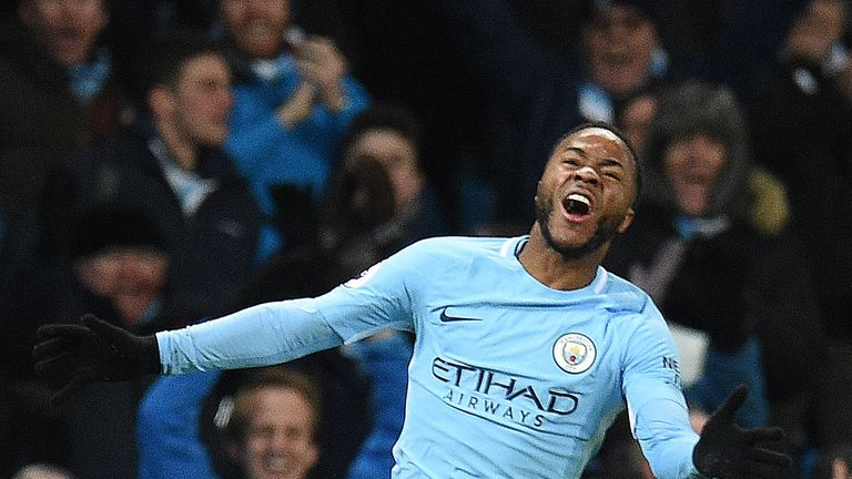 Sterling has scored 13 goals in all competitions for City this season