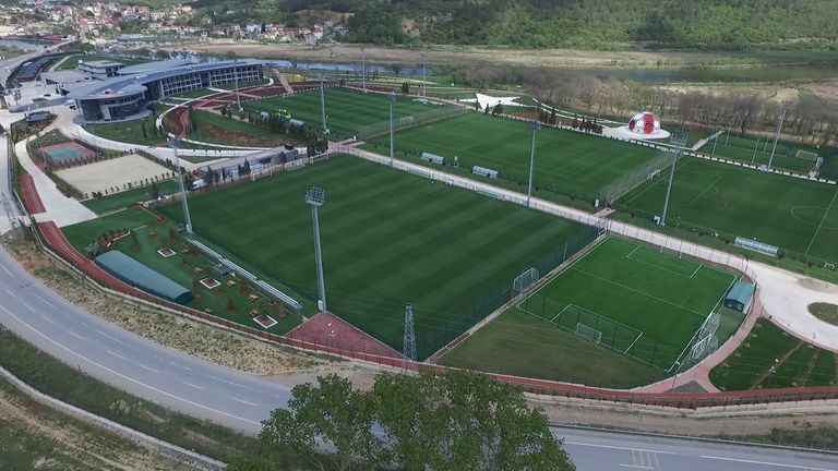 Turkey spent 62m Turkish Lira  (£12m) to develop their national football centre in Riva