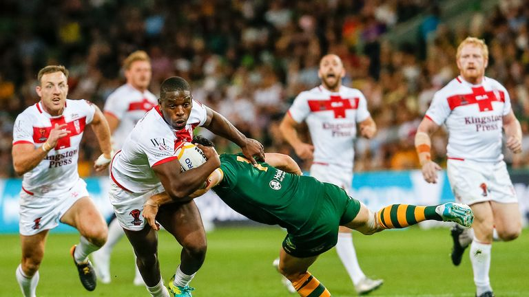 Jermaine McGillvary was excellent in attack and defence for England