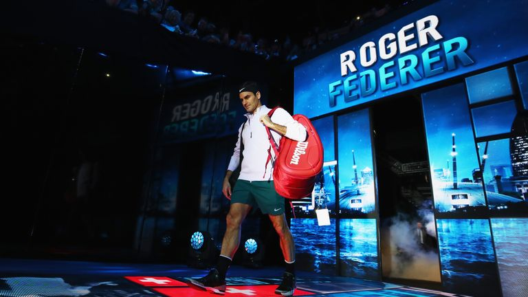 Federer made a grand entrance at London's O2 Arena