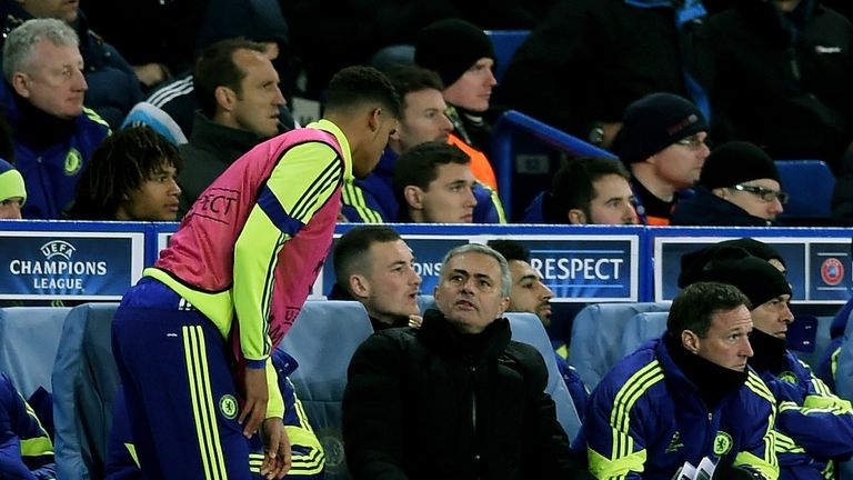 Ruben Loftus-Cheek speaks with Jose Mourinho at Chelsea