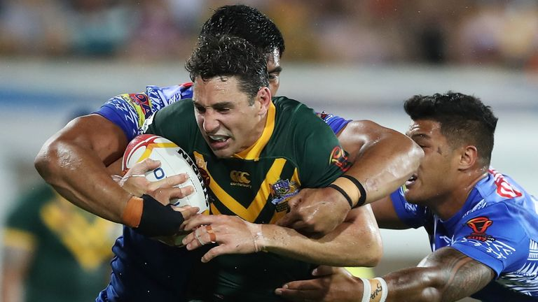 Billy Slater was as safe and solid as ever at full-back for the Kangaroos and scored Australia's third try