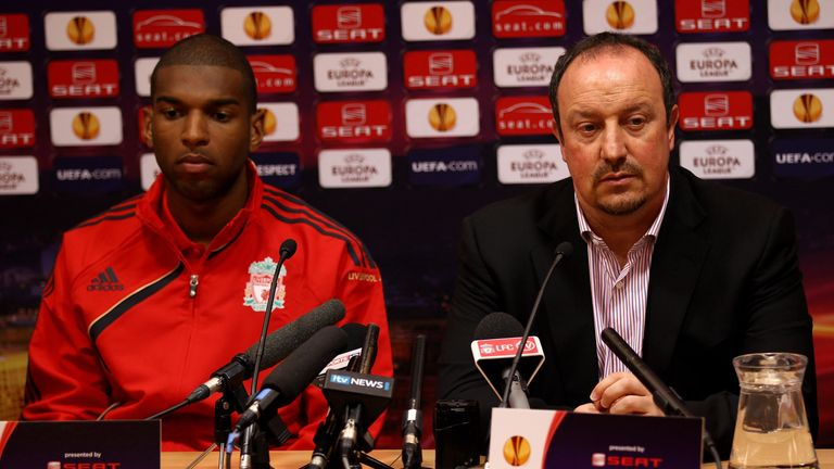 Babel was signed by Rafa Benitez at Liverpool
