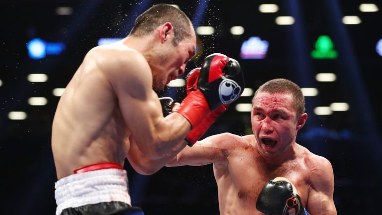 Sergey Lipinets overcame a bad cut to become the IBF super-lightweight world champion