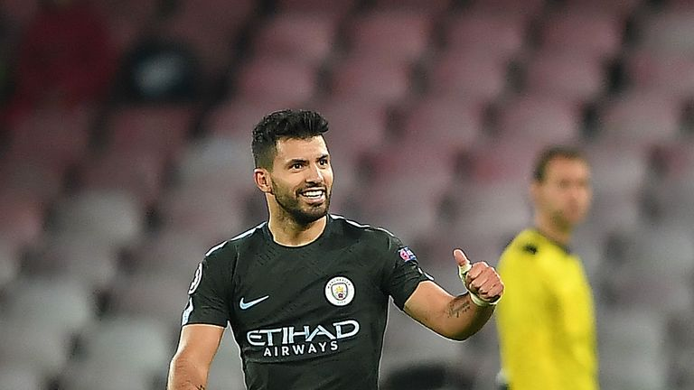 Real Madrid are pondering a swoop for Man City forward Sergio Aguero