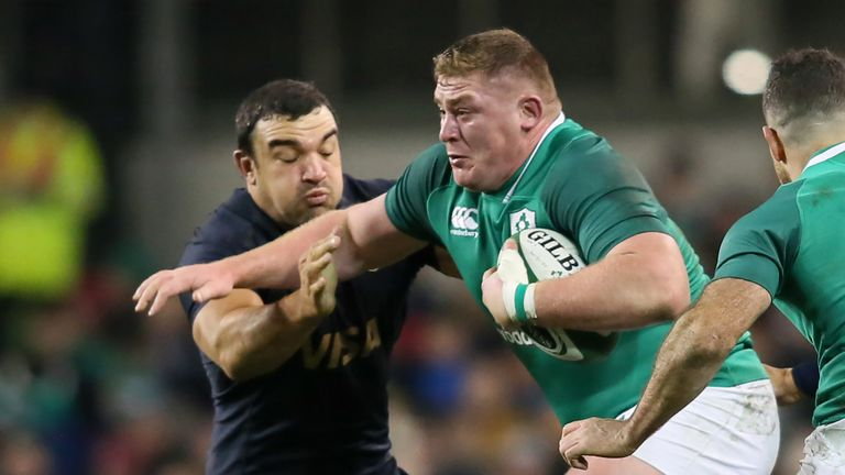 Ireland's prop Tadhg Furlong is back for Ireland after hamstring problems