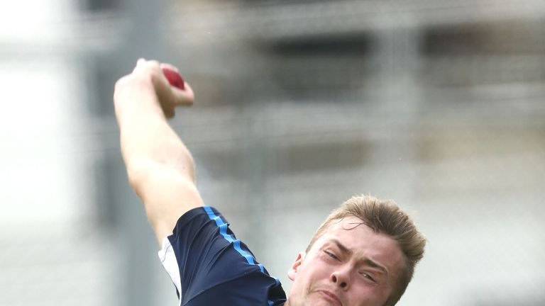Middlesex seamer Tom Helm has been in Australia with the England Lions