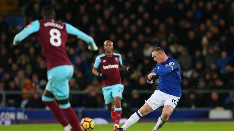 Wayne Rooney scored from long-range after Hart's poor clearance