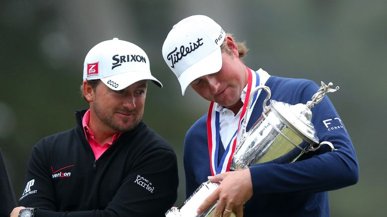 Webb Simpson pipped Graeme McDowell to the US Open title at the Olympic Club in 2012