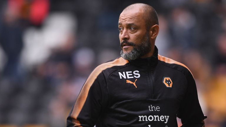 Nuno Espirito Santo and his staff keenly celebrated their goals and victory against Aston Villa earlier this season