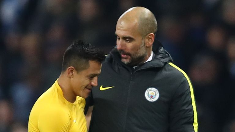 Sanchez and Pep Guardiola worked together at Barcelona