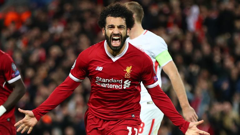 Mohamed Salah is Liverpool's top scorer this season with 21 goals in 28 appearances since signing from Roma in the summer