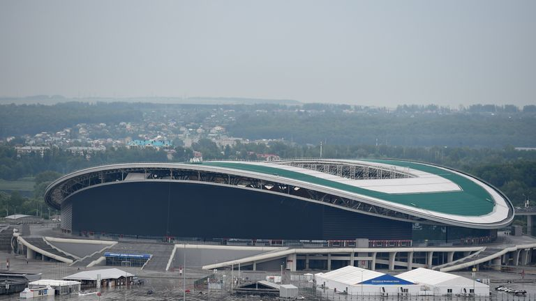The Kazan Arena, home of Rubin Kazan, will be used at the 2018 World Cup