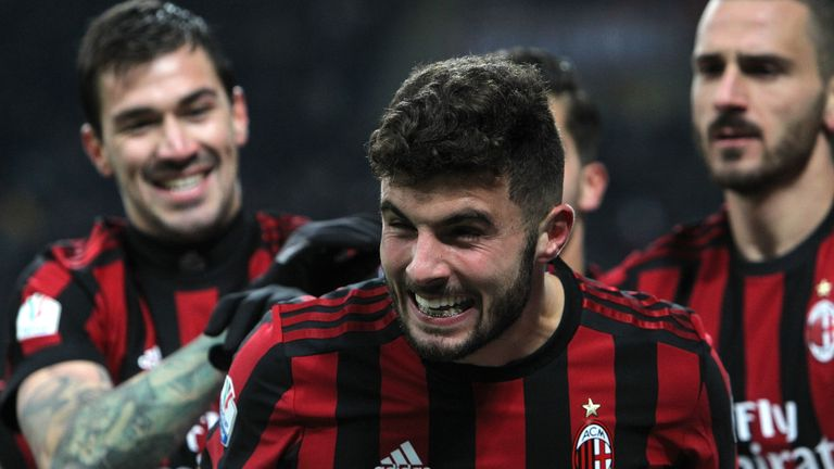 Patrick Cutrone scored AC Milan's third goal in their comfortable victory over Verona
