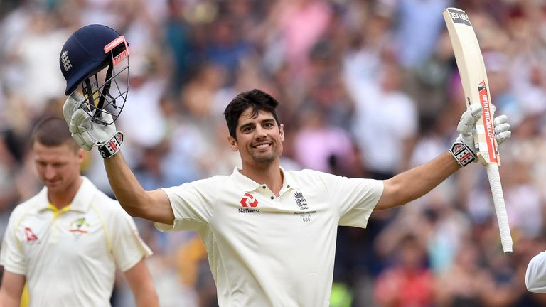 Alastair Cook hit an unbeaten 244 in the Melbourne Test