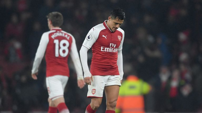 Arsenal lost 3-1 against Manchester United at the Emirates