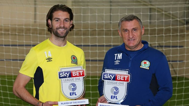 Blackburn pair Charlie Mulgrew and boss Tony Mowbray have scooped the League One awards