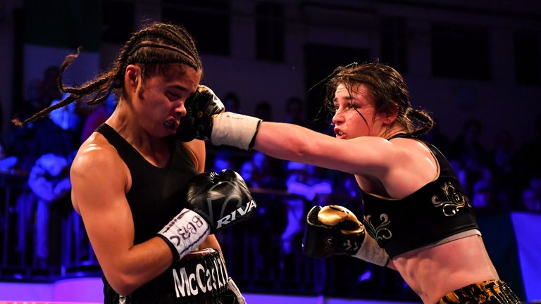 Taylor defeated Jessica McCaskill in her last fight in December
