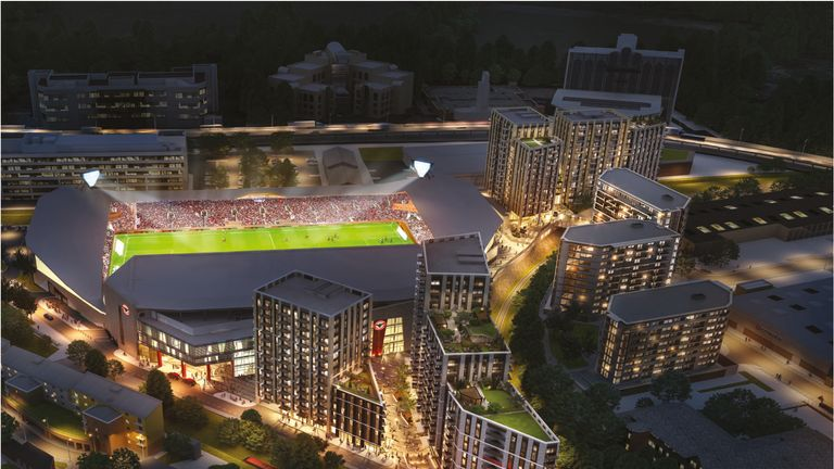 Brentford's new stadium was about to enter its final 'practical completion' phase