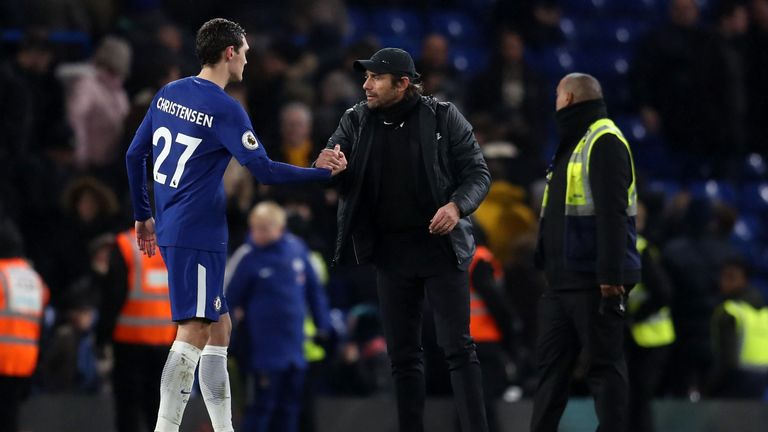 Antonio Conte has promoted Christensen to the first team following the young defender's two-year loan spell at Borussia Monchengladbach