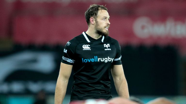 Cory Allen scored one of Ospreys' three tries on the night