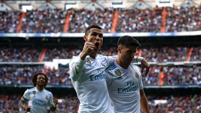 Cristiano Ronaldo scored twice in the first half