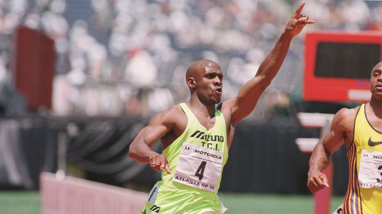 Dennis Mitchell is a two-time sprint relay world champion