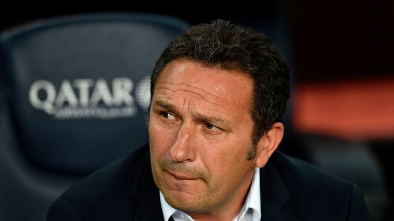 Real Sociedad's coach Eusebio Sacristan spent 16 years at the Nou Camp