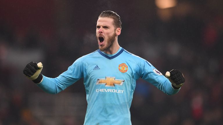 David De Gea is on target to claim his first-ever Golden Glove award