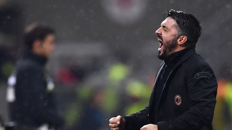 Gennaro Gattuso won his first game as AC Milan head coach