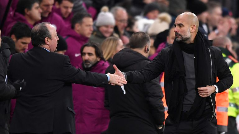 Newcastle travel to Pep Guardiola's Manchester City on Saturday