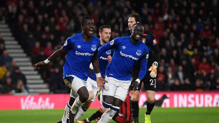 Idrissa Gueye equalised for Everton after a mistake from Steve Cook