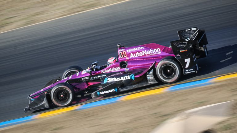 Harvey in action at Sonoma in 2017