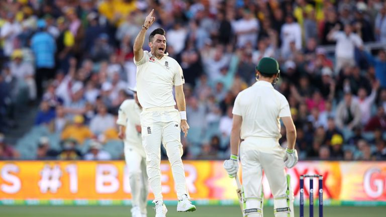James Anderson led the way for England with two wickets in his 11-over spell