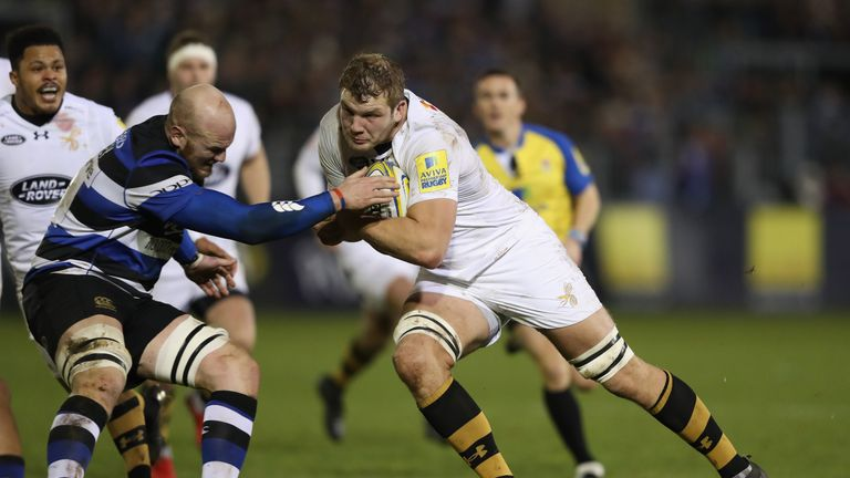 Joe Launchbury put in another powerful display for Wasps at Bath
