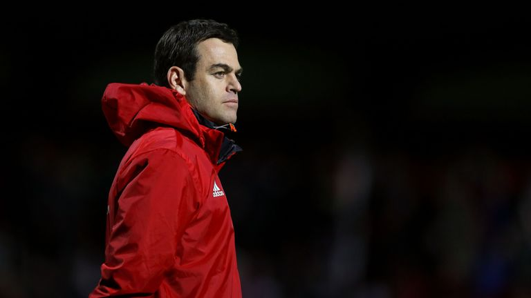 Munster head coach Johann van Graan took sole charge officially for the first time
