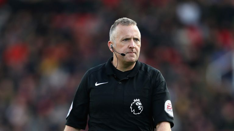 Jon Moss will referee the game between Everton and Crystal Palace on Saturday